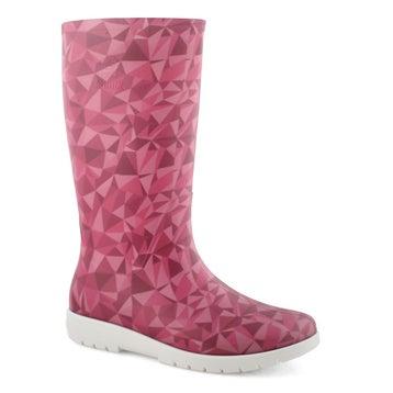 Women's NELLIE magenta mid waterproof rain boots