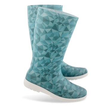 Women's NELLIE teal mid waterproof rain boots