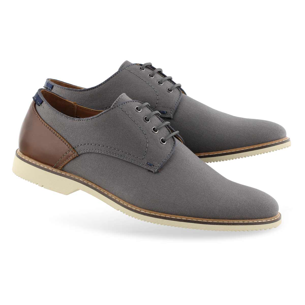 Men's NEWSTEAD grey lace up dress oxfords