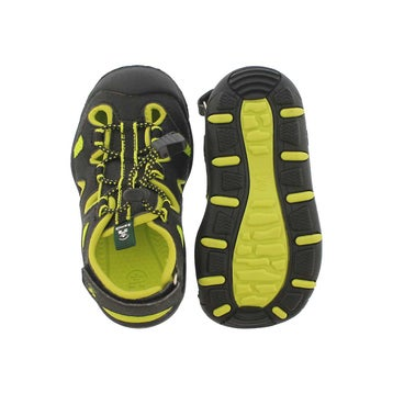 Toddlers' OYSTER 2 black/sulfur fisherman sandals