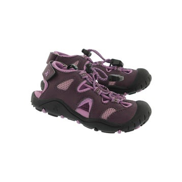 Toddlers' OYSTER 2 dark purple fisherman sandals