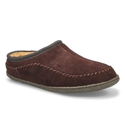 Mns Pauly III rootbeer suede slipper