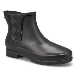 Lds Pippa black chelsea rain boot