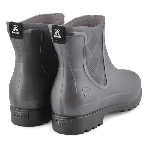 Lds Pippa charcoal chelsea rain boot