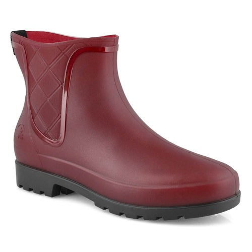 Lds Pippa red chelsea rain boot