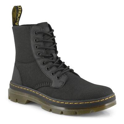 Men's COMBS black lace up combat boots