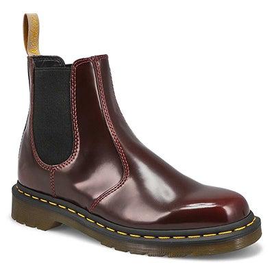 Lds 2976 Vegan cherry red chelsea boot