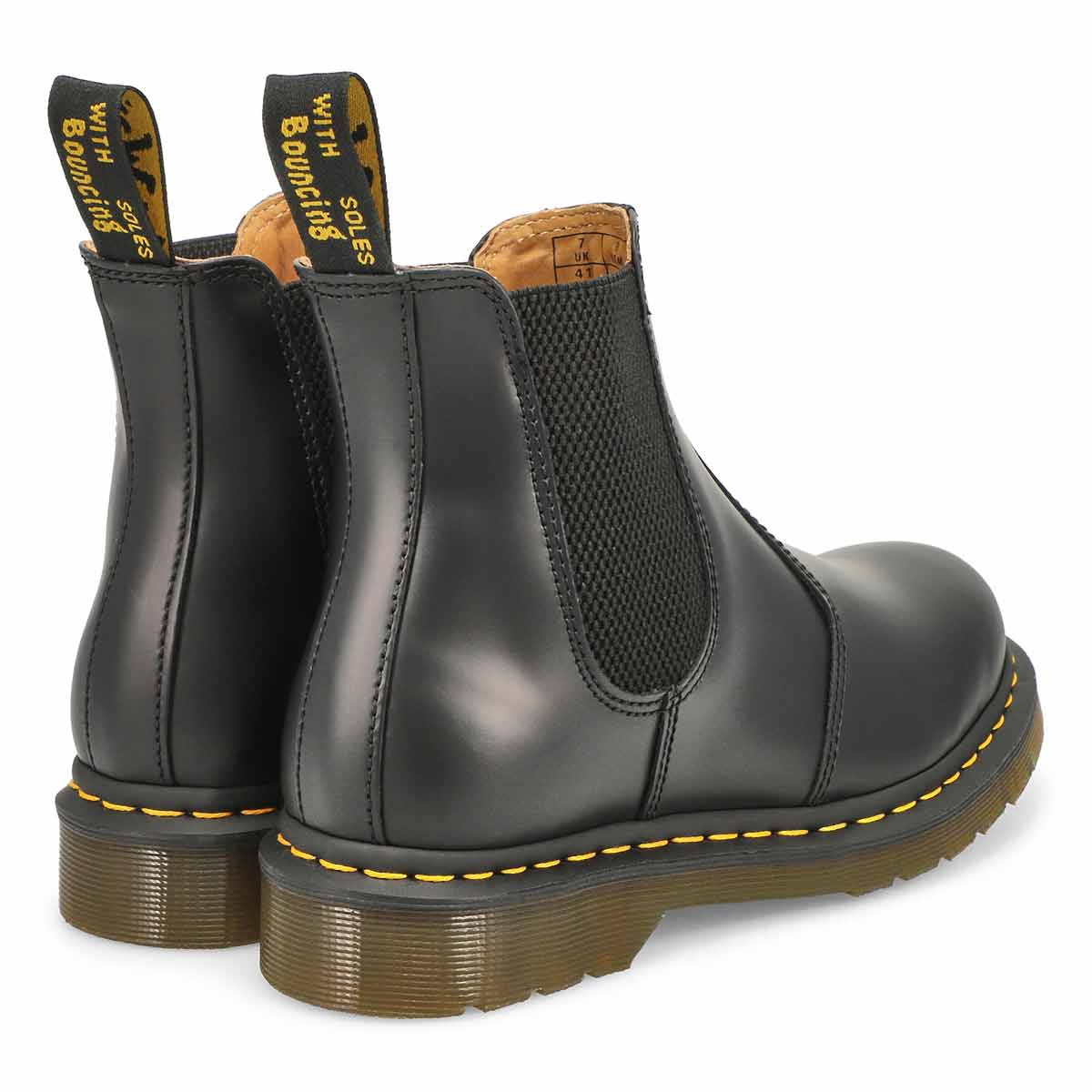 Botte Chelsea 2976 YELLOW STITCH, noir femmes