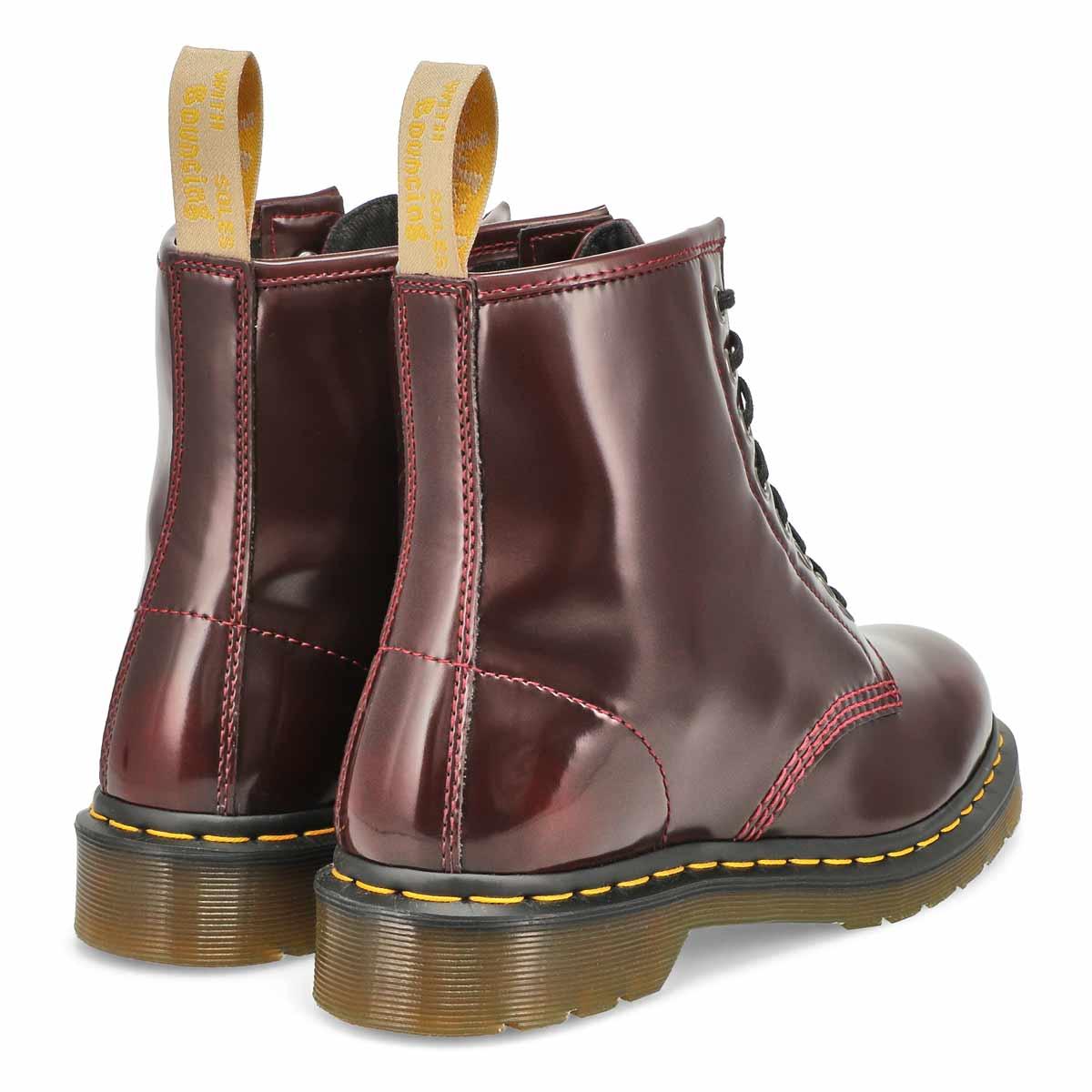 Women's Vegan 1460 8-Eye Smooth Boot - Cherry
