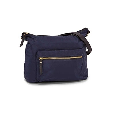 Roots Women's R5685 navy top zipper hobo bag