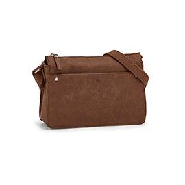 RootsWomen's R5716 mocha east west crossbody bag
