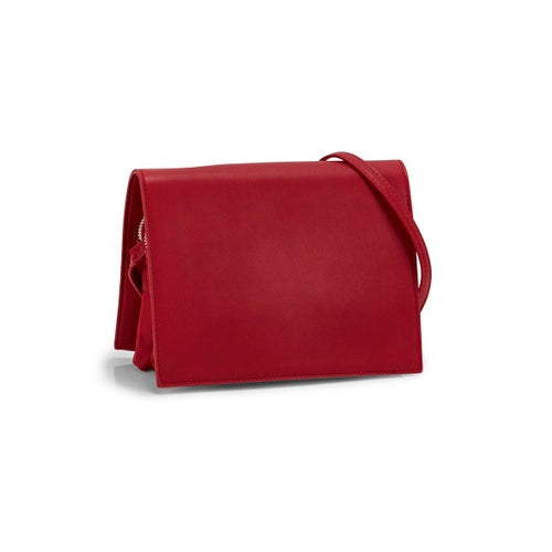 Lds Roots73 red full flap crossbody