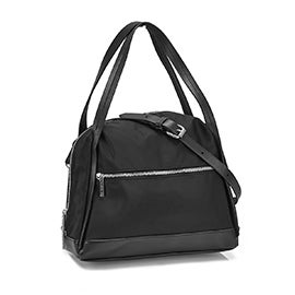 Roots Women's R5725 black top zip satchel