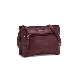 Roots Women's R5782 burgundy crossbody bag