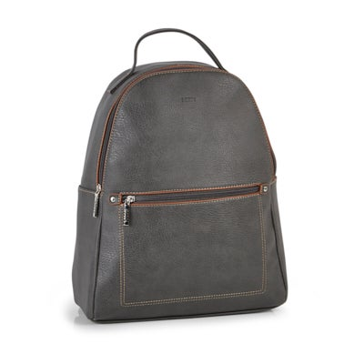 RootsWomen's R5783 grey painted edge back pack