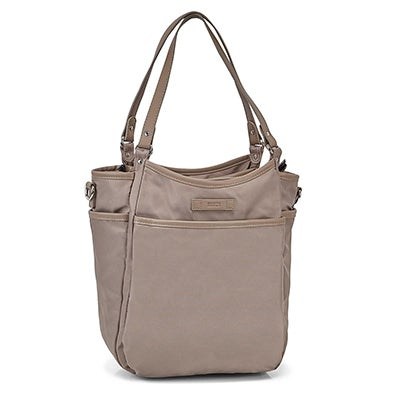 Roots Women's R5802 taupe muli pocket satchel
