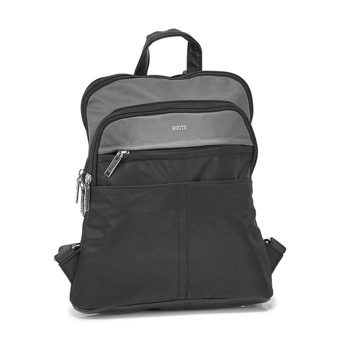 Mini sac à dos multi poches R5857, noir, femmes