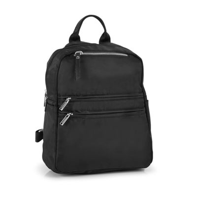 Roots Women's R5866 black multi-zip backpack