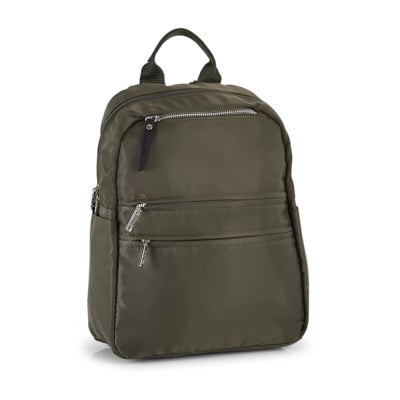 Roots Women's R5866 khaki multi-zip backpack