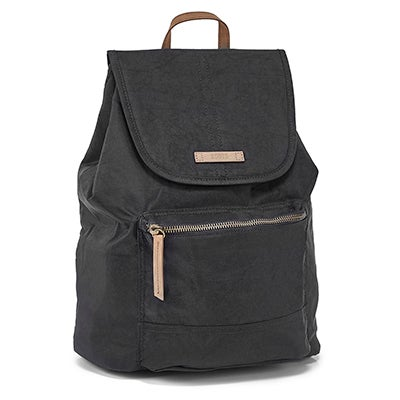 Roots Women's R5891 black front flap backpack