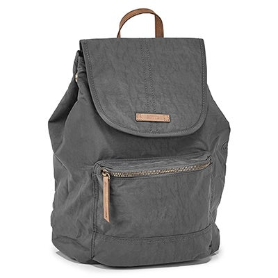 Roots Women's R5891 charcoal front flap back pack