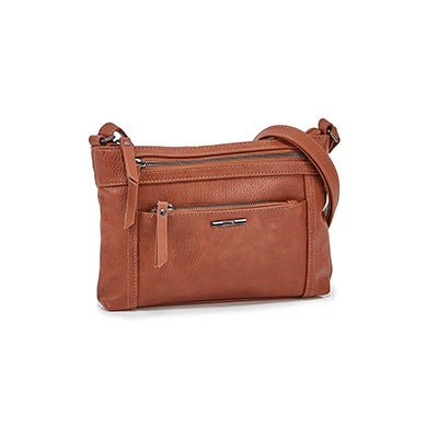 Roots Women's R5939 cognac cross body bag
