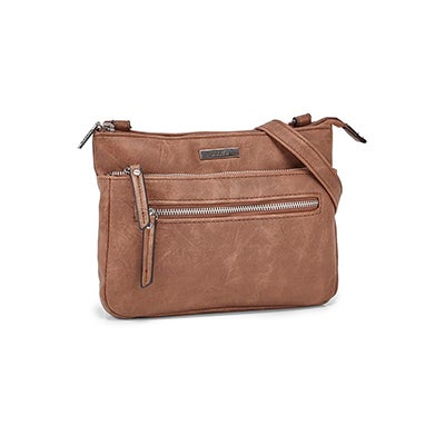 Roots Women's R6047 camel cross body bag