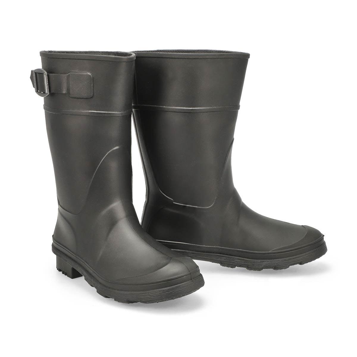 Boys' RAINDROPS black waterproof rain boots