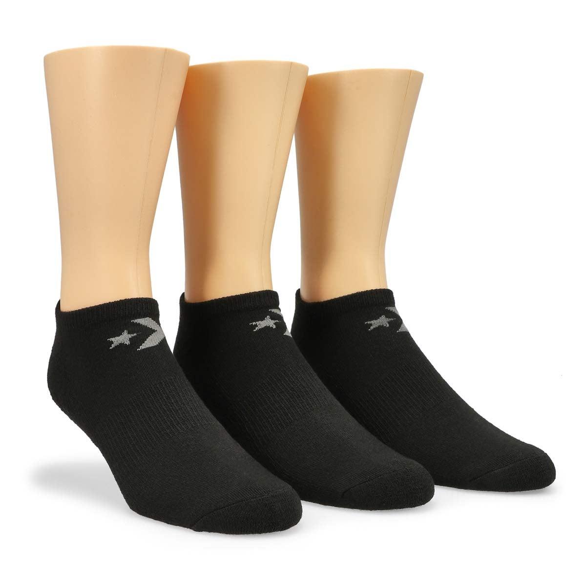 Men's CONVERSE black/grey no show socks - 3 pack