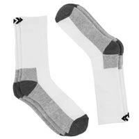 Men's CONVERSE HALF CUSHION CREW wht socks - 3pk