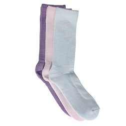 Lds Crew Lurex multi sock 3 pk