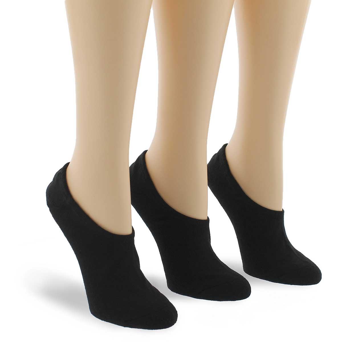 Socquettes logo MADE FOR CHUCKS, noir, 3p, femmes