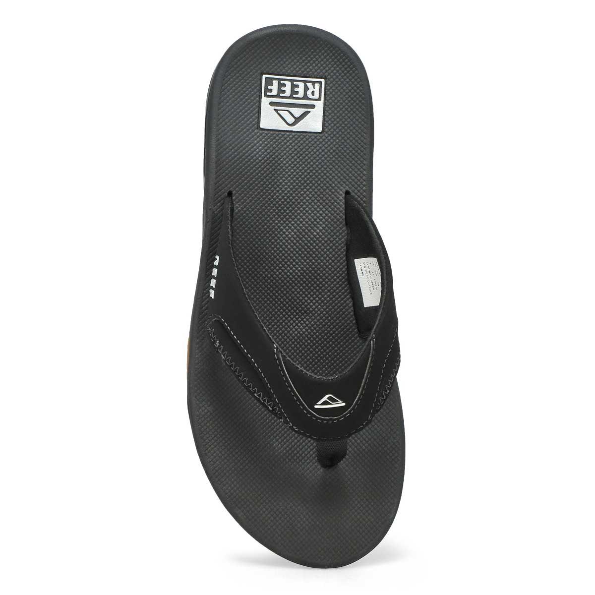 Sandale tong FANNING, noir/argent, homme