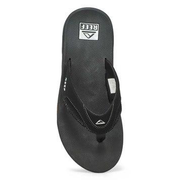 Men's Fanning Thong Sandal - Black/Silver