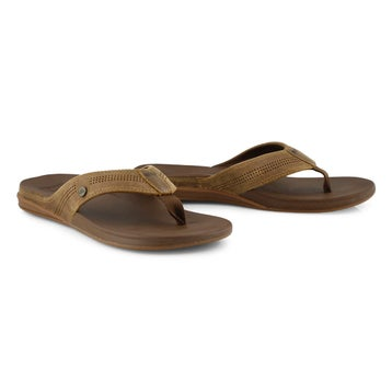 Men's Cushion Bounce Lux Thong Sandal - Toffee