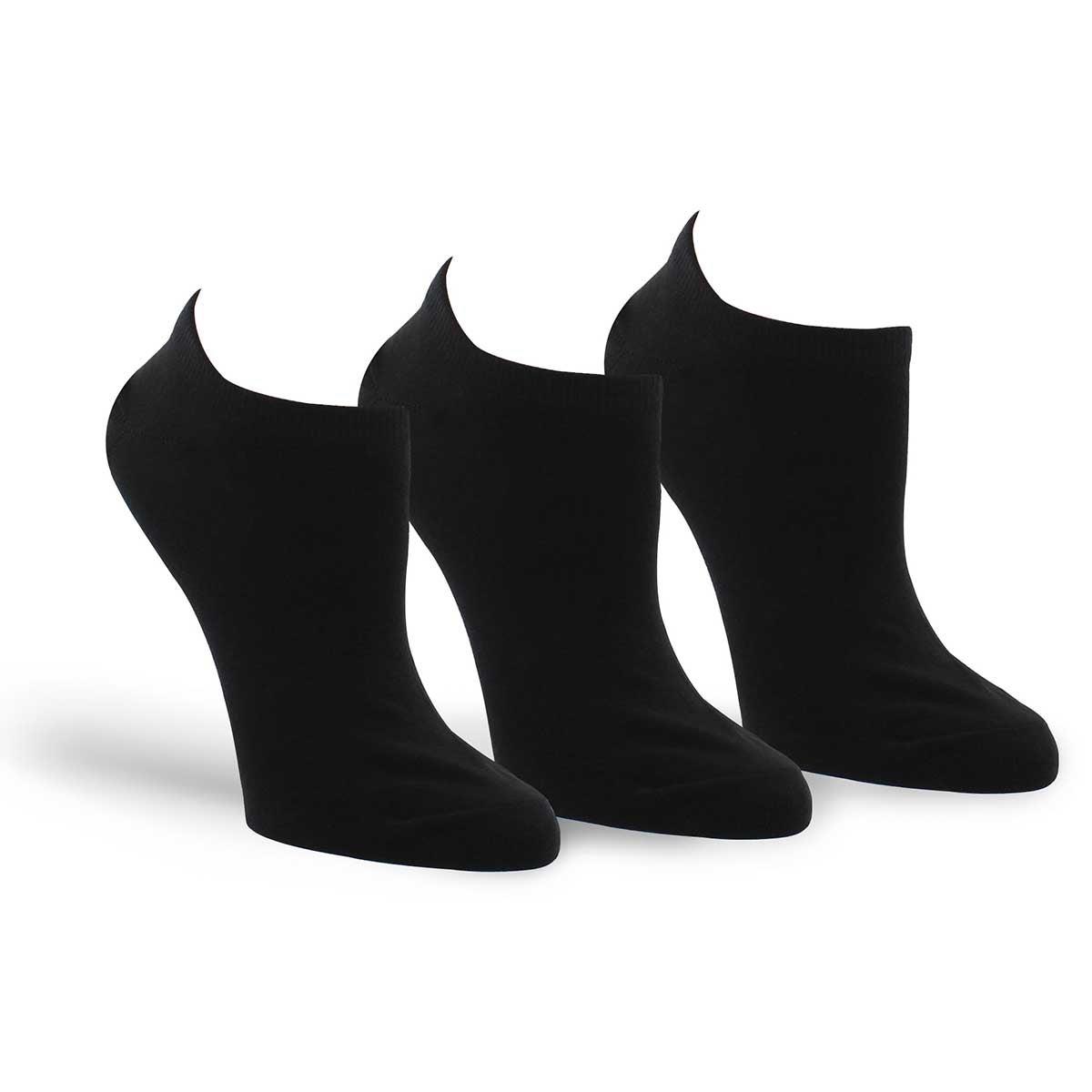 Women's CONVERSE black ankle socks - 3 pack