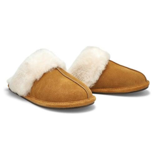 Lds Rihana 2 chesnut open back slipper