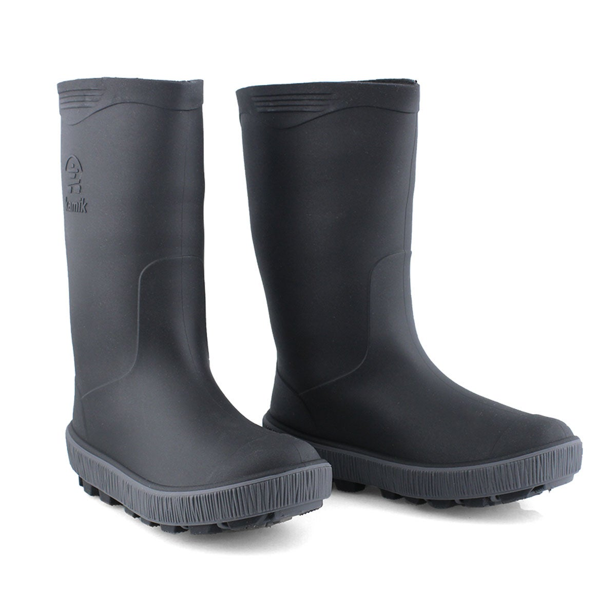 Boys' Riptide Waterproof Rain Boot - Blk/Charcoal