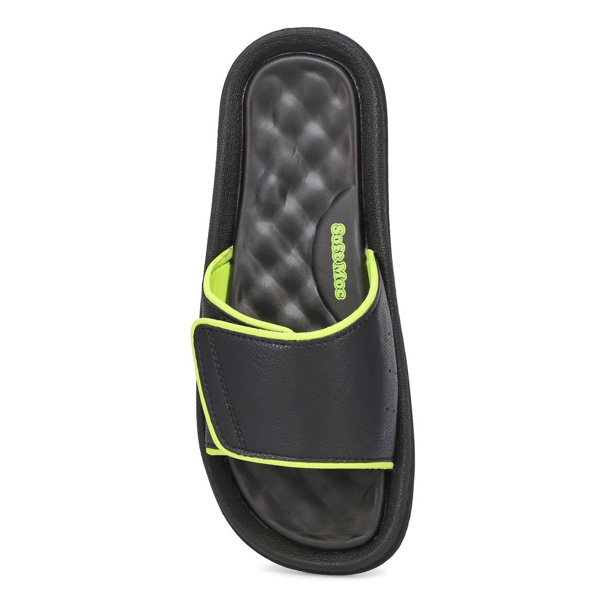 Men's Rory Slide Sandal - Black/Lime