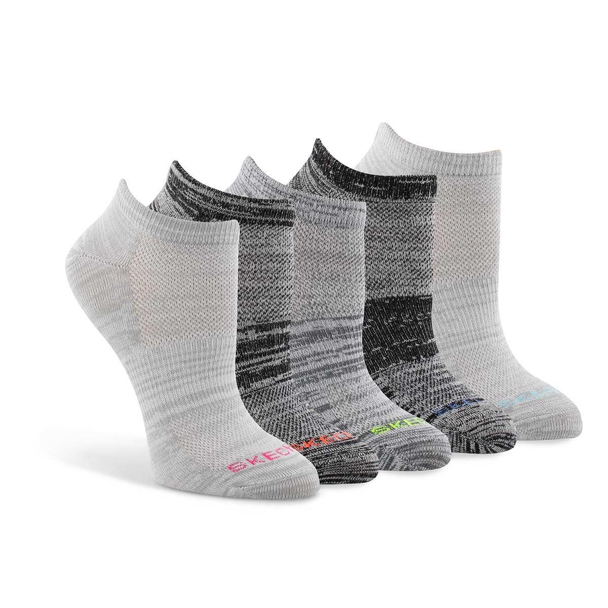 Women's LOW CUT NON TERRY socks - 5 pk