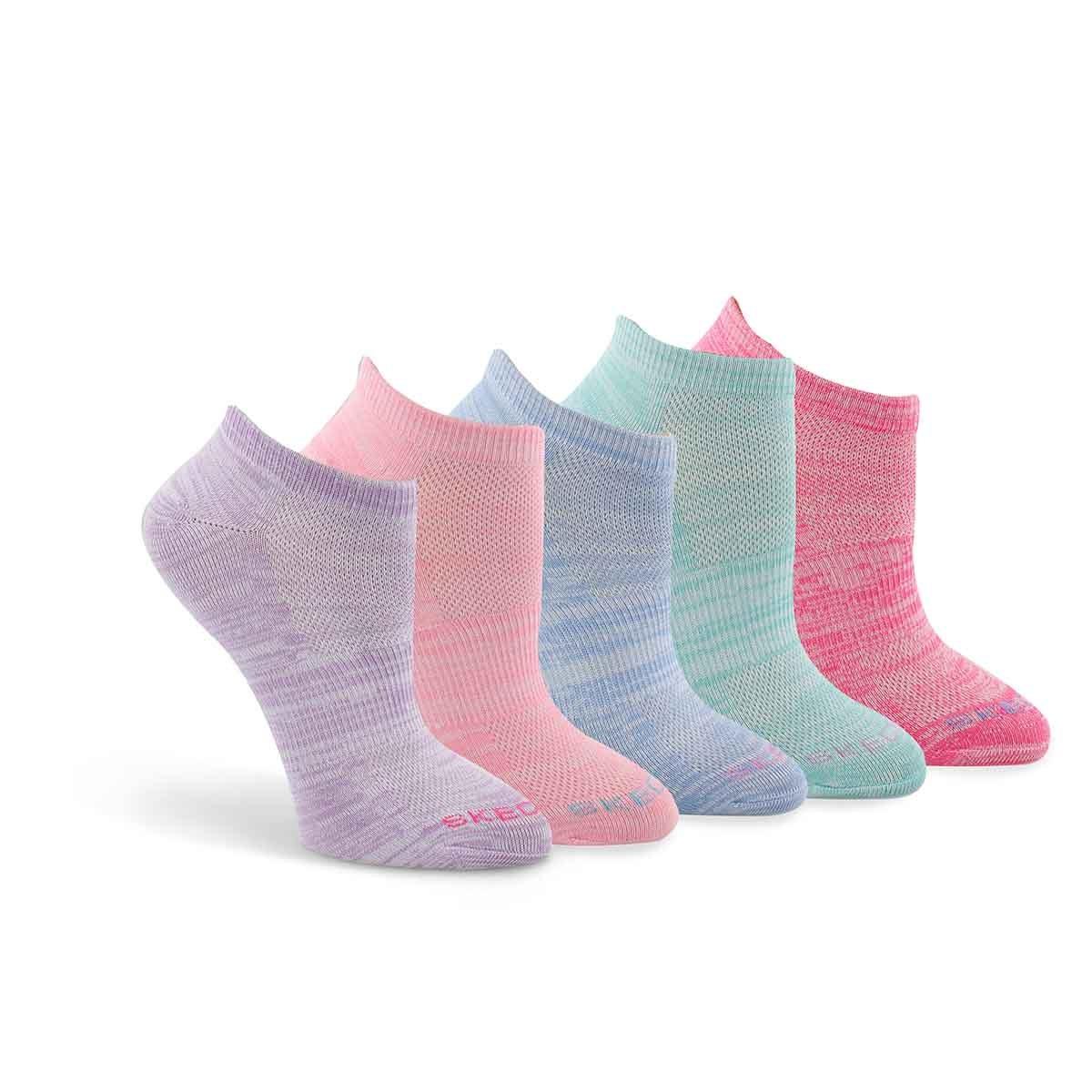 Women's LOW CUT NO TERRY multi socks - 5 pk