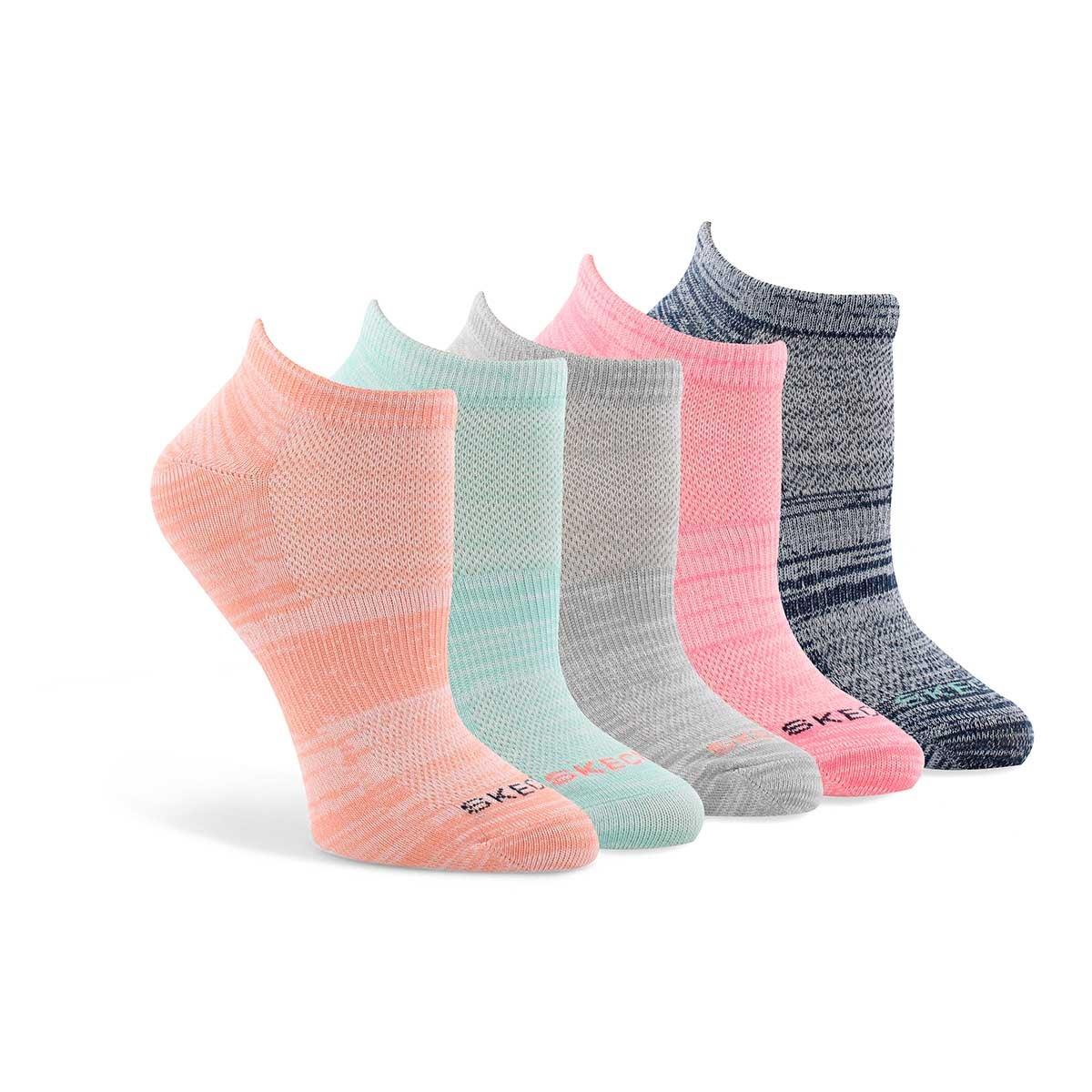 Women's LOW CUT NON TERRY multi socks - 5 pk