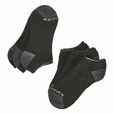 Bys NoShow FullTerry Sock 6p-Black