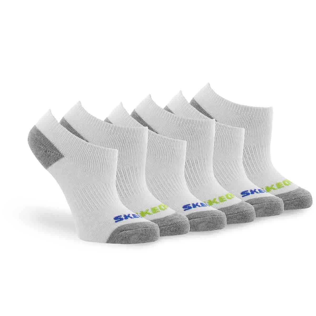 Socquettes NO SHOW FULL TERRY, blc mt, garçons-6p