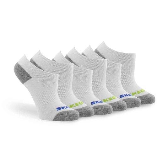 Bys NoShow FullTerry wht mlt sock 6p