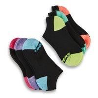 Girls' NO SHOW FULL TERRY med black socks - 6pk