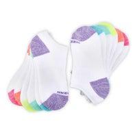 Girls' NO SHOW FULL TERRY MED white socks - 6 pk