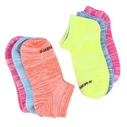 Grls Low Cut Non Terry multi sock 6 pk