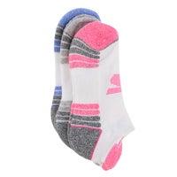 Women's LOW CUT HALF TERRY wht/multi socks - 3pk