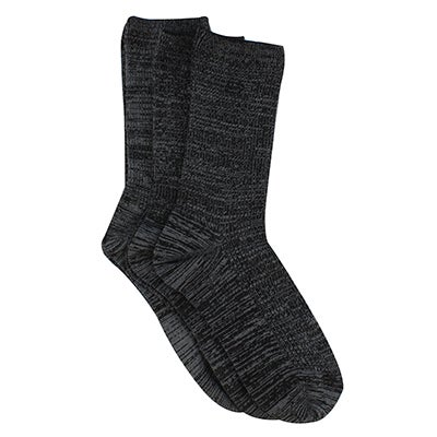 Skechers Women's NON TERRY CREW steel grey sock 3 pack